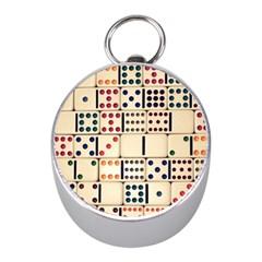 Old Domino Stones Mini Silver Compasses