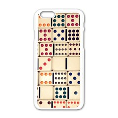 Old Domino Stones Apple iPhone 6/6S White Enamel Case