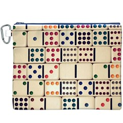 Old Domino Stones Canvas Cosmetic Bag (XXXL)
