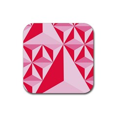 3d Pattern Experiments Rubber Square Coaster (4 Pack)