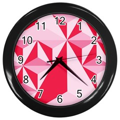 3d Pattern Experiments Wall Clocks (black)