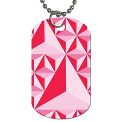 3d Pattern Experiments Dog Tag (One Side)