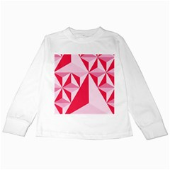 3d Pattern Experiments Kids Long Sleeve T-Shirts