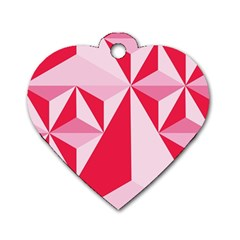 3d Pattern Experiments Dog Tag Heart (Two Sides)