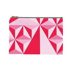 3d Pattern Experiments Cosmetic Bag (large)