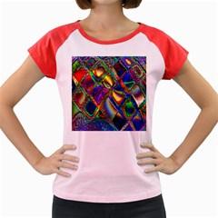 Abstract Digital Art Women s Cap Sleeve T Shirt