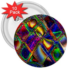 Abstract Digital Art 3  Buttons (10 pack)