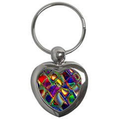Abstract Digital Art Key Chains (Heart)