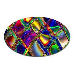 Abstract Digital Art Oval Magnet