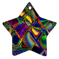 Abstract Digital Art Star Ornament (Two Sides)