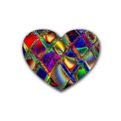 Abstract Digital Art Rubber Coaster (Heart)