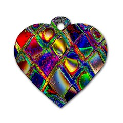 Abstract Digital Art Dog Tag Heart (One Side)