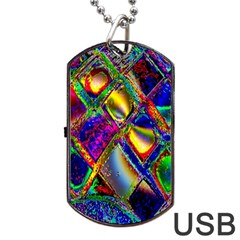 Abstract Digital Art Dog Tag USB Flash (Two Sides)