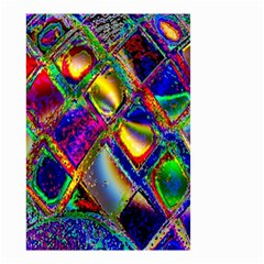 Abstract Digital Art Small Garden Flag (two Sides)