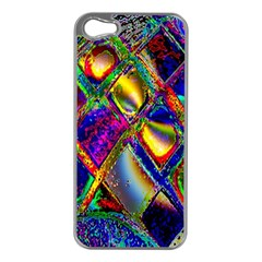 Abstract Digital Art Apple iPhone 5 Case (Silver)