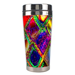 Abstract Digital Art Stainless Steel Travel Tumblers