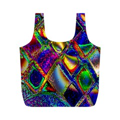 Abstract Digital Art Full Print Recycle Bags (m)