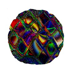 Abstract Digital Art Standard 15  Premium Flano Round Cushions