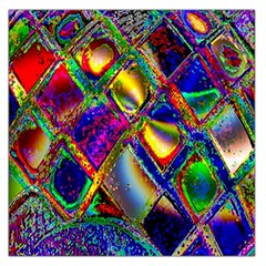 Abstract Digital Art Large Satin Scarf (Square)