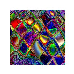 Abstract Digital Art Small Satin Scarf (square)