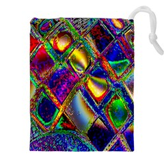 Abstract Digital Art Drawstring Pouches (xxl)