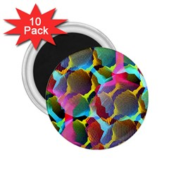 3d Pattern Mix 2.25  Magnets (10 pack)