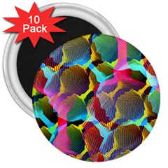3d Pattern Mix 3  Magnets (10 Pack)