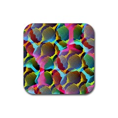3d Pattern Mix Rubber Square Coaster (4 pack)