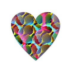 3d Pattern Mix Heart Magnet