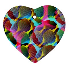 3d Pattern Mix Heart Ornament (Two Sides)