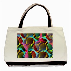 3d Pattern Mix Basic Tote Bag (Two Sides)
