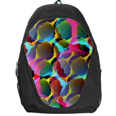 3d Pattern Mix Backpack Bag