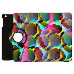 3d Pattern Mix Apple iPad Mini Flip 360 Case