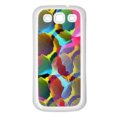 3d Pattern Mix Samsung Galaxy S3 Back Case (White)