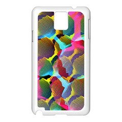 3d Pattern Mix Samsung Galaxy Note 3 N9005 Case (White)