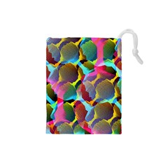3d Pattern Mix Drawstring Pouches (Small)