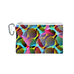 3d Pattern Mix Canvas Cosmetic Bag (S)