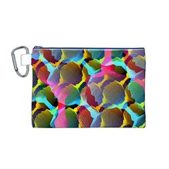 3d Pattern Mix Canvas Cosmetic Bag (m)