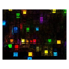 Abstract 3d Cg Digital Art Colors Cubes Square Shapes Pattern Dark Rectangular Jigsaw Puzzl