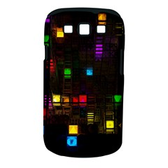 Abstract 3d Cg Digital Art Colors Cubes Square Shapes Pattern Dark Samsung Galaxy S III Classic Hardshell Case (PC+Silicone)