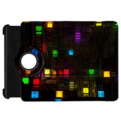 Abstract 3d Cg Digital Art Colors Cubes Square Shapes Pattern Dark Kindle Fire Hd 7
