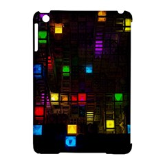 Abstract 3d Cg Digital Art Colors Cubes Square Shapes Pattern Dark Apple iPad Mini Hardshell Case (Compatible with Smart Cover)
