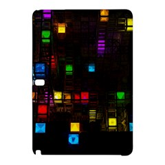 Abstract 3d Cg Digital Art Colors Cubes Square Shapes Pattern Dark Samsung Galaxy Tab Pro 10.1 Hardshell Case
