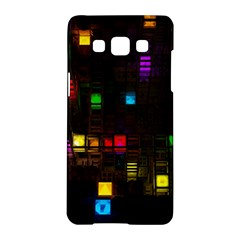 Abstract 3d Cg Digital Art Colors Cubes Square Shapes Pattern Dark Samsung Galaxy A5 Hardshell Case