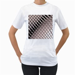3d Abstract Pattern Women s T Shirt (white) (two Sided)