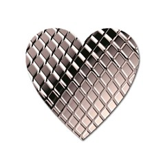 3d Abstract Pattern Heart Magnet
