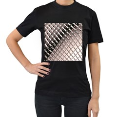 3d Abstract Pattern Women s T-Shirt (Black) (Two Sided)