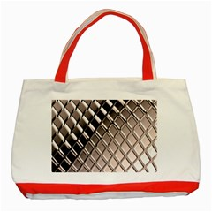 3d Abstract Pattern Classic Tote Bag (Red)