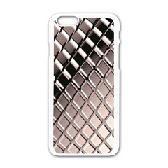3d Abstract Pattern Apple iPhone 6/6S White Enamel Case