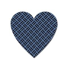 WOV2 BK-MRBL BL-LTHR (R) Heart Magnet
